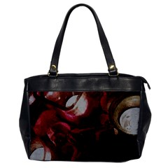 Dark Red Candlelight Candles Office Handbags by yoursparklingshop