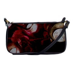 Dark Red Candlelight Candles Shoulder Clutch Bags by yoursparklingshop