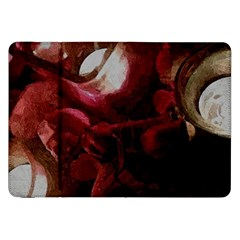 Dark Red Candlelight Candles Samsung Galaxy Tab 8 9  P7300 Flip Case by yoursparklingshop