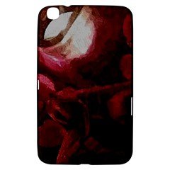 Dark Red Candlelight Candles Samsung Galaxy Tab 3 (8 ) T3100 Hardshell Case  by yoursparklingshop