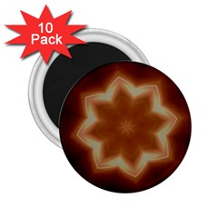 Christmas Flower Star Light Kaleidoscopic Design 2 25  Magnets (10 Pack)  by yoursparklingshop