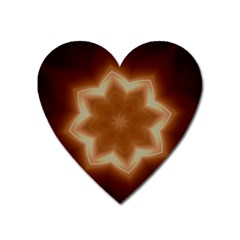 Christmas Flower Star Light Kaleidoscopic Design Heart Magnet by yoursparklingshop