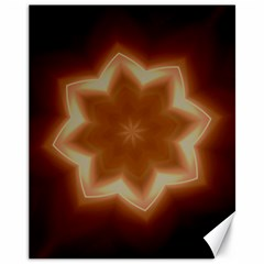 Christmas Flower Star Light Kaleidoscopic Design Canvas 11  X 14   by yoursparklingshop