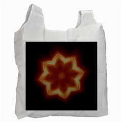 Christmas Flower Star Light Kaleidoscopic Design Recycle Bag (one Side) by yoursparklingshop