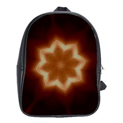Christmas Flower Star Light Kaleidoscopic Design School Bags(large)  by yoursparklingshop