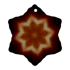 Christmas Flower Star Light Kaleidoscopic Design Snowflake Ornament (2 Side) by yoursparklingshop