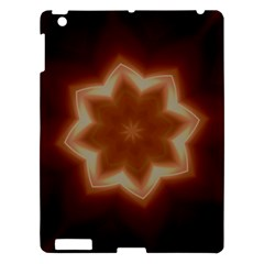 Christmas Flower Star Light Kaleidoscopic Design Apple Ipad 3/4 Hardshell Case by yoursparklingshop