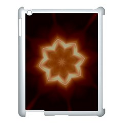Christmas Flower Star Light Kaleidoscopic Design Apple Ipad 3/4 Case (white) by yoursparklingshop