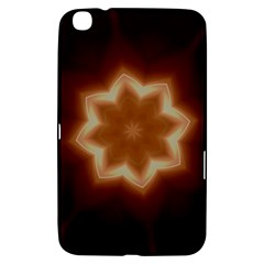 Christmas Flower Star Light Kaleidoscopic Design Samsung Galaxy Tab 3 (8 ) T3100 Hardshell Case  by yoursparklingshop