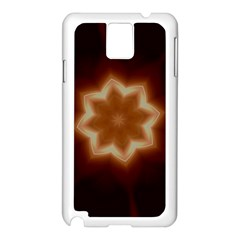 Christmas Flower Star Light Kaleidoscopic Design Samsung Galaxy Note 3 N9005 Case (white) by yoursparklingshop