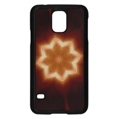 Christmas Flower Star Light Kaleidoscopic Design Samsung Galaxy S5 Case (black) by yoursparklingshop