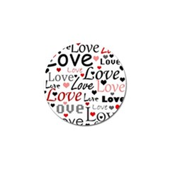 Love Pattern   Red Golf Ball Marker (10 Pack)
