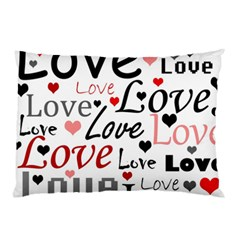 Love Pattern   Red Pillow Case (two Sides)