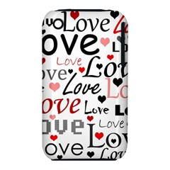 Love Pattern   Red Iphone 3s/3gs by Valentinaart