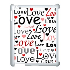 Love Pattern   Red Apple Ipad 3/4 Case (white) by Valentinaart