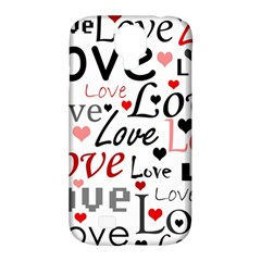 Love Pattern   Red Samsung Galaxy S4 Classic Hardshell Case (pc+silicone) by Valentinaart