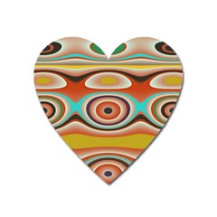 Oval Circle Patterns Heart Magnet by digitaldivadesigns
