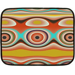 Oval Circle Patterns Double Sided Fleece Blanket (mini)  by digitaldivadesigns