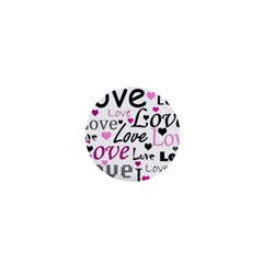 Love Pattern - Magenta 1  Mini Buttons by Valentinaart