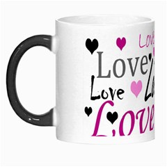 Love Pattern   Magenta Morph Mugs by Valentinaart