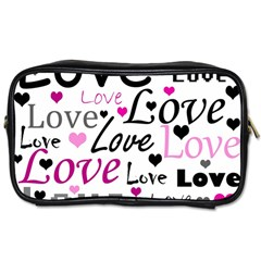 Love Pattern   Magenta Toiletries Bags