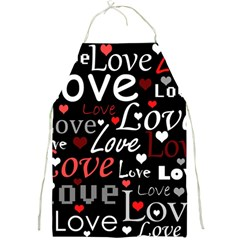 Red Love Pattern Full Print Aprons by Valentinaart