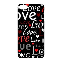 Red Love Pattern Apple Ipod Touch 5 Hardshell Case With Stand by Valentinaart