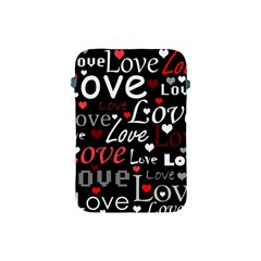 Red Love Pattern Apple Ipad Mini Protective Soft Cases by Valentinaart