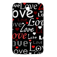 Red Love Pattern Samsung Galaxy Tab 3 (7 ) P3200 Hardshell Case  by Valentinaart