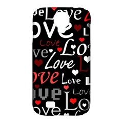 Red Love Pattern Samsung Galaxy S4 Classic Hardshell Case (pc+silicone) by Valentinaart