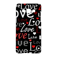 Red Love Pattern Samsung Galaxy A5 Hardshell Case