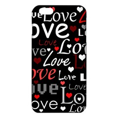 Red Love Pattern Iphone 6 Plus/6s Plus Tpu Case by Valentinaart