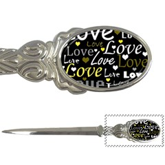 Yellow Love Pattern Letter Openers by Valentinaart