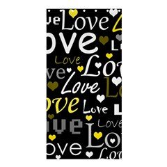 Yellow Love Pattern Shower Curtain 36  X 72  (stall)  by Valentinaart