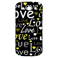 Yellow Love Pattern Samsung Galaxy S3 S Iii Classic Hardshell Back Case