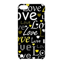 Yellow Love Pattern Apple Ipod Touch 5 Hardshell Case With Stand by Valentinaart