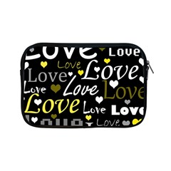 Yellow Love Pattern Apple Ipad Mini Zipper Cases by Valentinaart