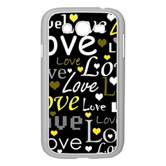 Yellow Love Pattern Samsung Galaxy Grand Duos I9082 Case (white) by Valentinaart