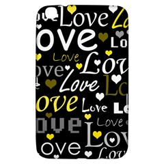 Yellow Love Pattern Samsung Galaxy Tab 3 (8 ) T3100 Hardshell Case  by Valentinaart