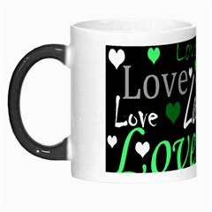 Green Valentine s Day Pattern Morph Mugs by Valentinaart
