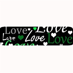Green Valentine s Day Pattern Large Bar Mats