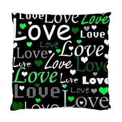 Green Valentine s Day Pattern Standard Cushion Case (one Side) by Valentinaart