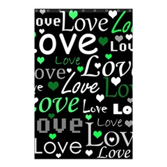 Green Valentine s Day Pattern Shower Curtain 48  X 72  (small)