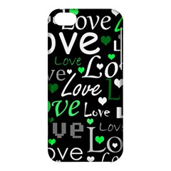 Green Valentine s Day Pattern Apple Iphone 5c Hardshell Case by Valentinaart