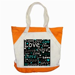 Valentine s Day Pattern   Cyan Accent Tote Bag by Valentinaart