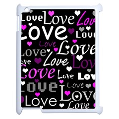 Valentine s Day Pattern   Purple Apple Ipad 2 Case (white)