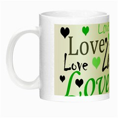 Green  Valentine s Day Pattern Night Luminous Mugs by Valentinaart