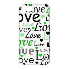 Green  Valentine s Day Pattern Apple Iphone 7 Plus Hardshell Case by Valentinaart