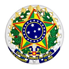 Coat Of Arms Of Brazil Ornament (round Filigree)  by abbeyz71