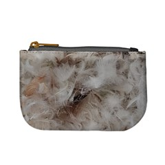 Down Comforter Feathers Goose Duck Feather Photography Mini Coin Purses